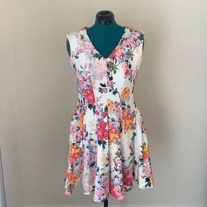 (14) Just...Taylor Floral Swing Dress